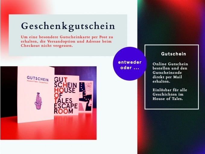 Gutschein Shop | House of Tales – Escape Room in Berlin